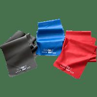 CHRISTOPEIT 3er-Set Gymnastikbänder, Schwarz/Blau/Rot