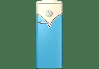 GORENJE OBRB 153 BL  VW-Bulli Retro  Kühlschrank (E, 1540 mm hoch, Baby Blau/Champagne)