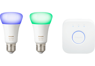 PHILIPS Hue White & Color Ambiance, LED Leuchtmittel inkl. Bridge, 10 Watt, E27