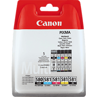 CANON PGI-580PGBK/CLI-581 Multipack Tintenpatrone, Mehrfarbig