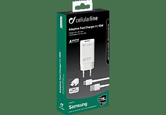 CELLULAR LINE Adaptive Fast Charger USB Typ-C Kit 15 Watt Ladegerät Samsung  15 Watt, Weiß
