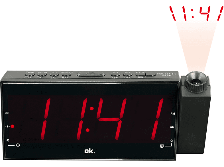 OK. OCR 160 PR Radio-Wecker (FM, FM, Schwarz)