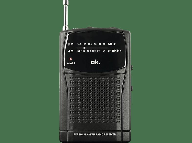 OK. ORF 110 Tragbares FM-Radio (FM, Schwarz)