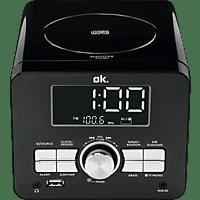 OK. OCR 100 Radio-Uhr FM, Schwarz