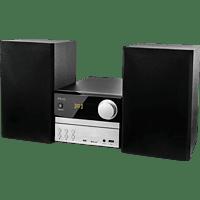 PEAQ PMS310BT-SL Kompaktanlage (Nein, CD/ MP3/ CD-R/CD-RW, MP3, Schwarz/Silber)
