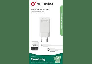 CELLULAR LINE USB Charger Kit 10 Watt Ladegerät Samsung, Weiß