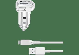 CELLULAR LINE Adaptive Fast Car Charger USB-Type-C Kit 15 Watt Kfz Ladegerät Samsung, Weiß