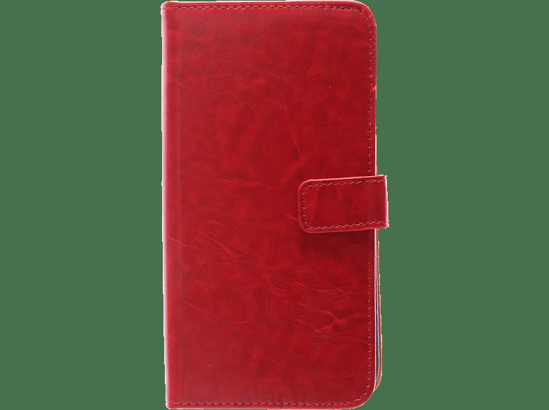 V-DESIGN BV 213 , Bookcover, Samsung, Galaxy J7 (2017), Kunstleder, Rot
