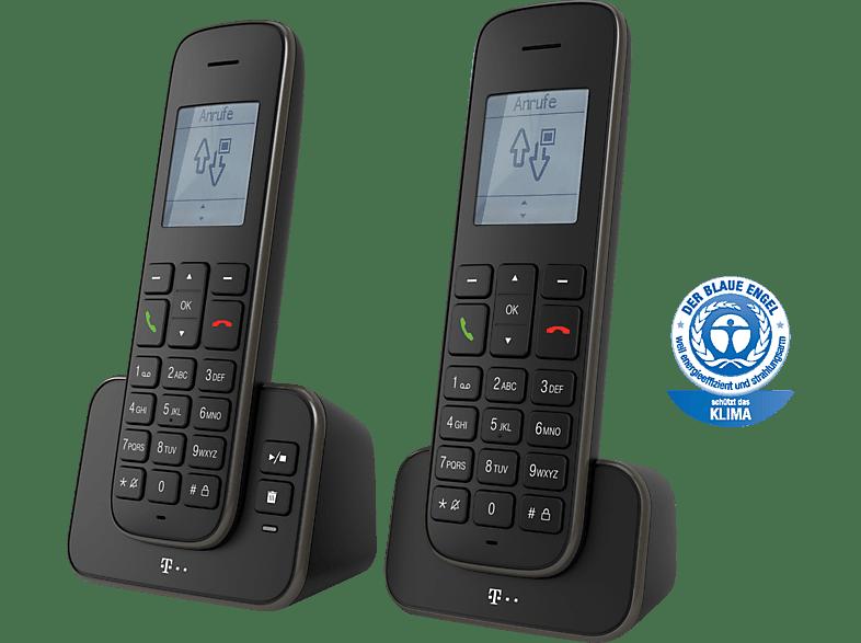 TELEKOM Sinus A 207 Duo - mit 2 Mobilteilen Schnurloses Telefonset