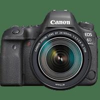 CANON EOS 6D Mark II Kit Spiegelreflexkamera, Full HD, 24-105 mm Objektiv (EF, IS, STM), Touchscreen Display, WLAN, Schwarz
