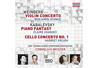 Schmid/Huangci/Krijgh/Meister/ORF RSO Wien - Violinkonzert/Klavierfantasie/Cellokonzert  - (CD)