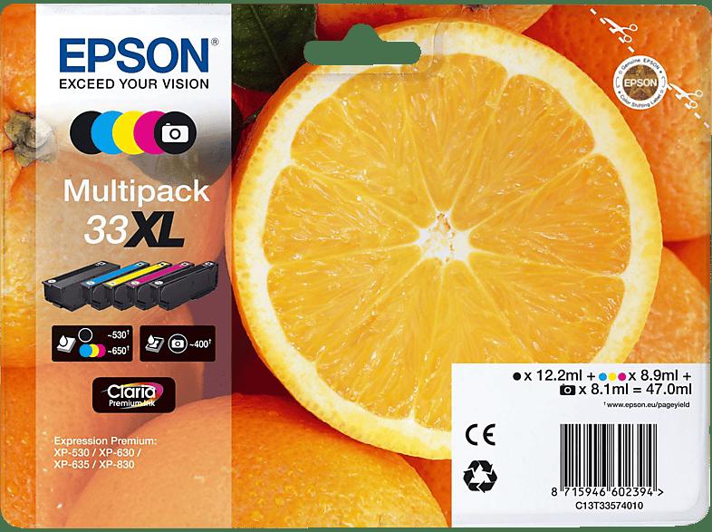 EPSON Original Tintenpatrone Orange Mehrfarbig (C13T33574011)