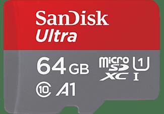 SANDISK Ultra®, Micro-SDXC Speicherkarte, 64 GB, 100 MB/s