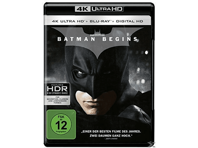 Batman Begins - Premium Blu-ray Collection [4K Ultra HD Blu-ray + Blu-ray]