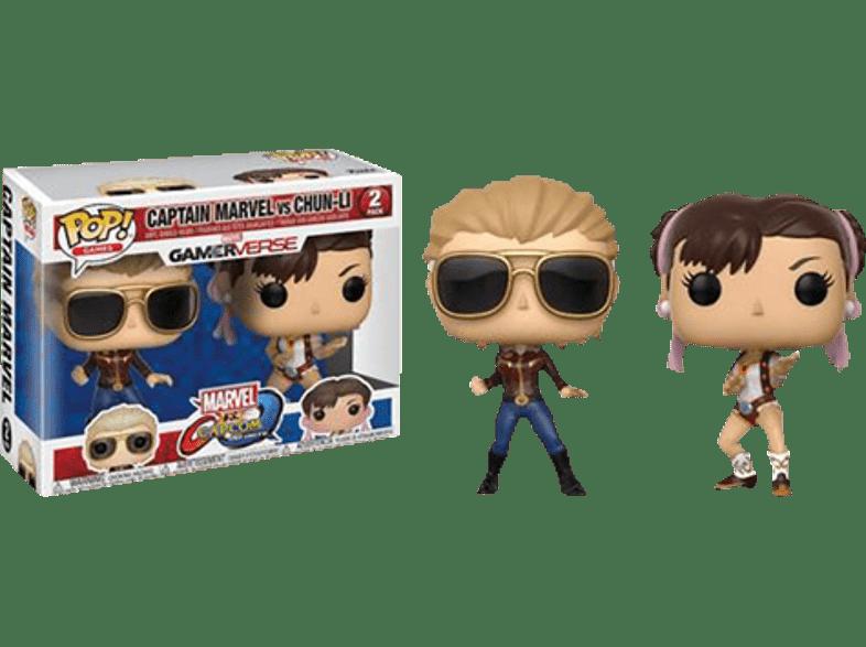 FUNKO UK POP! Games: Captain Marvel vs Chun-Li Vinylfigur, Mehrfarbig