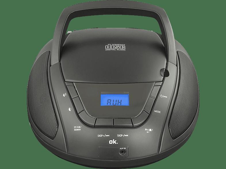 OK. ORC 130 Tragbares Stereoradio (Schwarz)