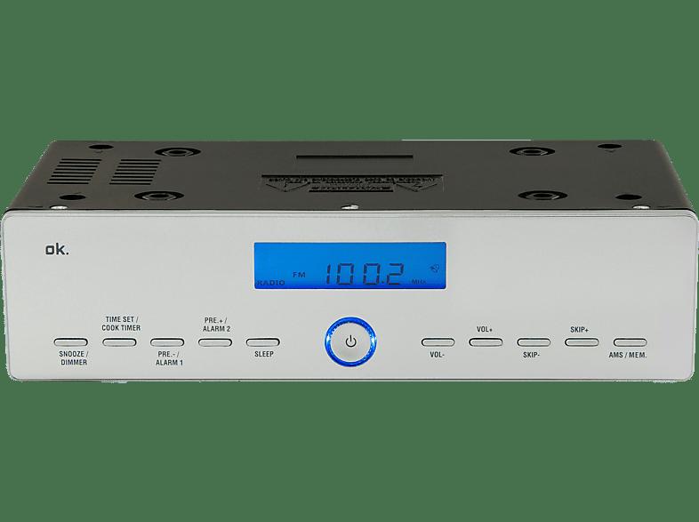 OK. OKR 120 Küchenradio (FM, FM, Silber)