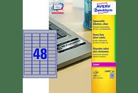 AVERY ZWECKFORM L6009-100 Typenschild Etiketten 45,7 x 21,2 mm 45,7 x 21,2 mm A4  4.800 Etiketten / 100 Bogen