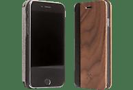 WOODCESSORIES EcoFlip Donald , Bookcover, Apple, iPhone 7, iPhone 8, Walnuss/Echtholz/Polycarbonat, Walnuss/Schwarz
