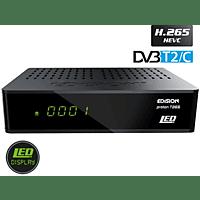 EDISION Proton T265 LED DVB-C/DVB-T2 HD Receiver (HDTV, DVB-T2 HD, DVB-C, DVB-C2, Schwarz)