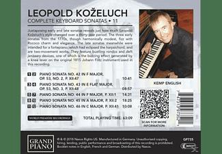 English Kemp - Sämtliche Klaviersonaten Vol.11  - (CD)