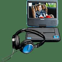 LENCO DVP-710 Tragbarer DVD-Player, Schwarz/Blau