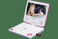 LENCO DVP-710 Tragbarer DVD-Player, Weiß/Pink
