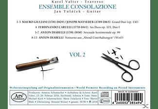 Karel Valter, Jan Tulacek, Ensemble Consolazione - Werke für Flöte und Gitarre Vol.2  - (CD)