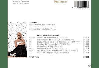 Aleksandra Mikulska - Souvenirs-Klavierwerke  - (CD)