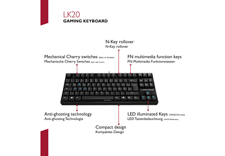 LIONCAST LK20, Gaming Tastatur, Mechanisch, Cherry MX Blue