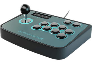 LIONCAST Arcade Fighting Stick Joystick, Schwarz