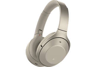 SONY WH-1000XM2, Over-ear Kopfhörer Bluetooth Gold