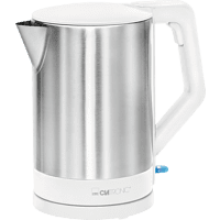 CLATRONIC WKS 3692 Cordless Wasserkocher, Weiß/Edelstahl