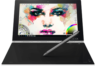 LENOVO Yoga Book, Convertible mit 10.1 Zoll Display, Atom® Prozessor, 4 GB RAM, 128 GB eMMC, Intel® HD-Grafik 400, Pearl White