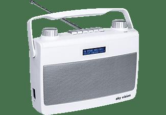 SKY VISION DAB+ Radio 8 W DAB+ Radio, FM- und DAB/DAB+-Tuner, DAB, DAB+, FM, Weiß