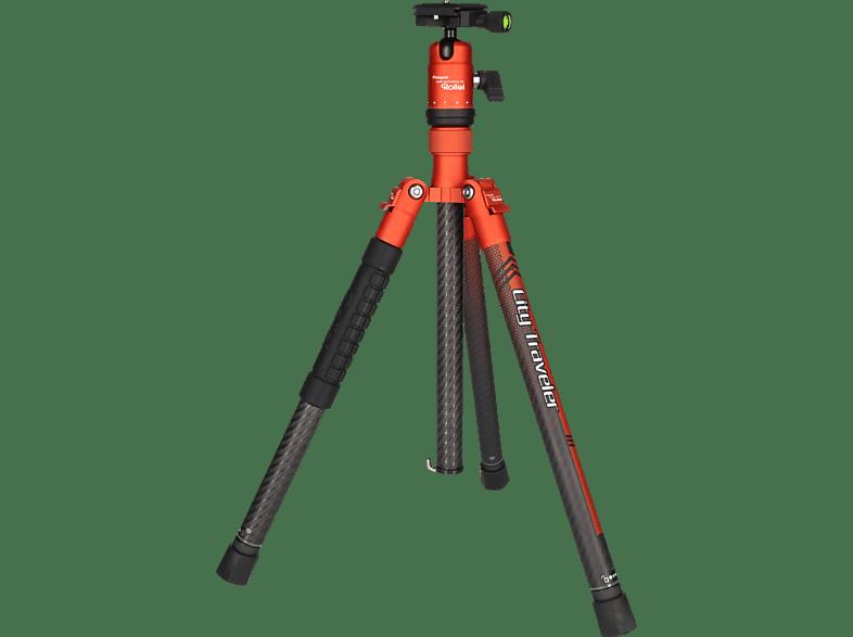 ROLLEI City Traveler Dreibein Stativ, orange, Höhe offen bis 1305 mm