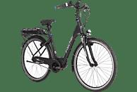 FISCHER - FAHRRAD City 8-G ECU 1860-R1 Citybike (28 Zoll, 44 cm, Tiefeinstieg, 557 Wh, Schwarz matt)