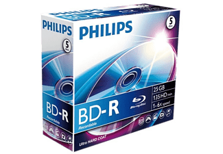 PHILIPS Pack 5 BD-R 25 GB 6 x (BD-R BR2S6J05C)