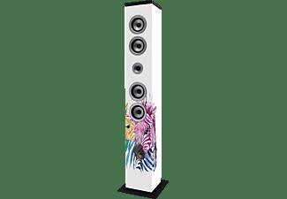 LENCO IBT 6 ZEBRA Bluetooth Lautsprecher, Weiß