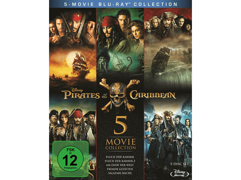 Pirates of the Caribbean 1 - 5 [Blu-ray]