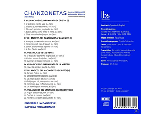 Ensemble La Danserye/Capella Prolationum - Chanzonetas  - (CD)