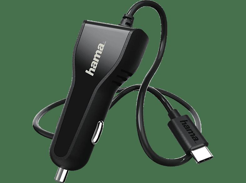 HAMA USB Typ-C Power Delivery (PD) Kfz-Ladegerät, Schwarz
