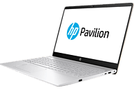 HP 15-ck031ng, Notebook  mit 15.6 Zoll Display, Core™ i7 Prozessor, 16 GB RAM, 1 TB HDD, 128 GB SSD, GeForce MX150, Silber
