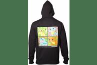 Pokemon Hoodie -M- Starter Pokemon, schwarz