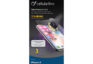 CELLULAR LINE Tetra Force Shield - Displayschutz (Passend für Modell: Apple iPhone 11 Pro, iPhone X, iPhone XS)