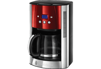 RUSSELL HOBBS 23240-56 RH Luna Solar  Kaffeemaschine Edelstahl/Grau/Rot