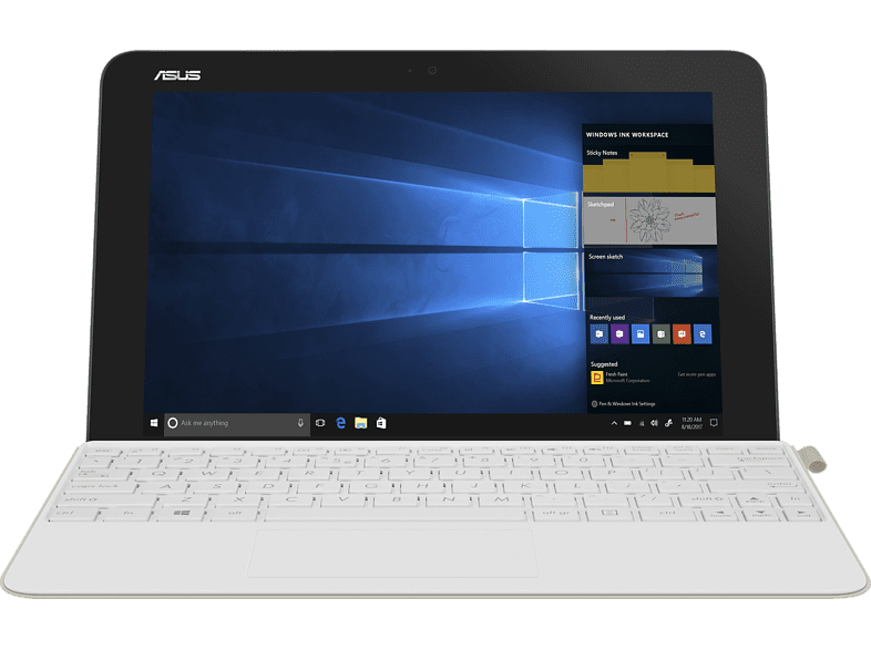 ASUS Transformer Mini, Convertible mit 10.1 Zoll Display, Atom® Prozessor, 4 GB RAM, 128 GB eMMC, Weiss/Icicle Gold