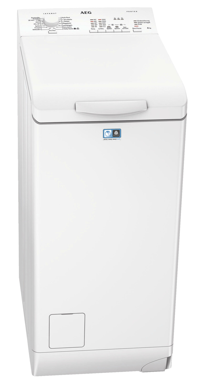 1200 U//Min AEG Waschmaschine Toplader L51260TL 6 kg