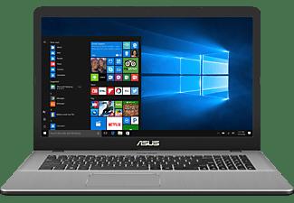 ASUS N705UD-GC187T, Gaming Notebook mit 17,3 Zoll Display, Intel® Core™ i5 Prozessor, 16 GB RAM, 1 TB HDD, 256 GB SSD, GeForce GTX 1050, Star Grey
