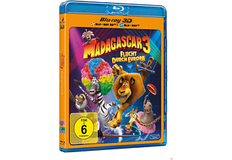 Madagascar 3 - Flucht durch Europa 3D Blu-ray (+2D)
